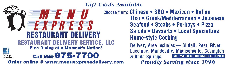 Menu Express (1-16h) Gift Cards